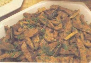 Rindfleisch in Ingwer (chinesische küche) - Rezept