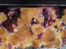 saftiger Pflaumenkuchen mit knusprigen Streuseln - Rezept