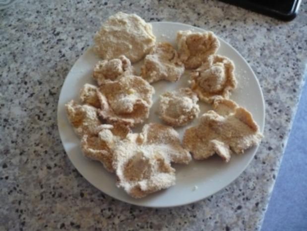 Panierte Eierschwammerl mit Gemüsereis - Rezept