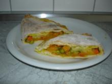 Pizza Calzone mit Kürbis - Rezept