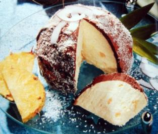 Ananas Eisbombe - Rezept