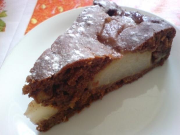 Birnen-Schoko-Nuss-Torte - Rezept - Bild Nr. 2