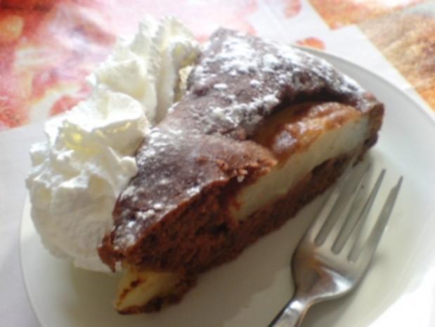 Birnen-Schoko-Nuss-Torte - Rezept - Bild Nr. 3