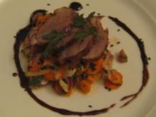 Arabischer Salat mit gebratenen Entenbrustscheiben - Rezept