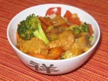 Asiatische Puten Gemüse Pfanne aus dem Wok - Rezept