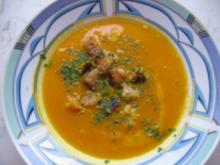 Kürbis-Suppe mit Croutons - Rezept