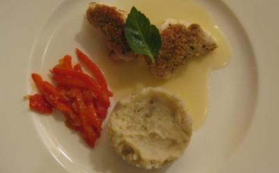 Seeteufel mit Kardamomkruste und Topinamburpüree - Rezept
