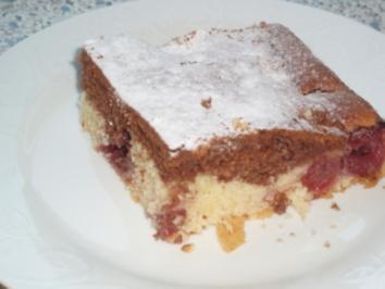 Marmorblechkuchen Mit Kirschen Rezept Kochbar De