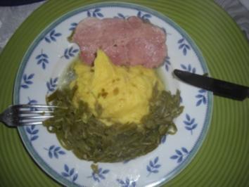 Inges Stinkbohnen mit Salzfleisch und Kartoffelpüree - Rezept