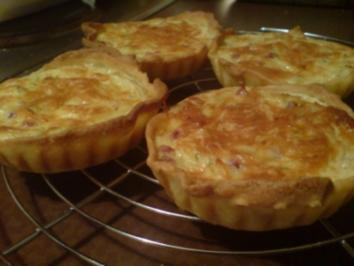 Zwiebelkuchen-Törtchen - Rezept