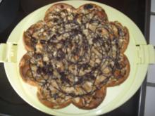 Kuchen- Apfelkuchen mit Marzipan und Schokoguss - Rezept