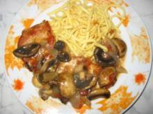 Schnitzel in Pilzsoße - Rezept