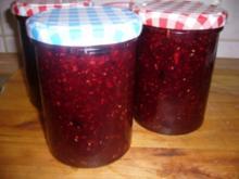 Marmelade --- Apfel-Beeren-Marmelade mit Le Sirop de Monin Rose - Rezept