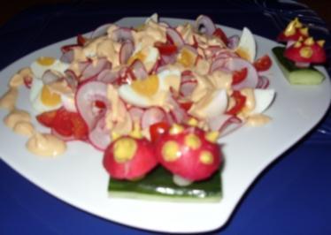Herbst-Salat mit Senf-Sahnedressing - Rezept