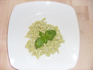 Kräuterspätzle oder Kräuterknöpfle - Rezept