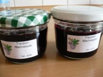 Rezept: Trauben - Marmelade
