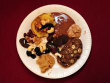 Bratäpfel gefüllt mit Grenobler Walnüssen und getrockneten Beeren mit Macadamiannusscreme (Rainer Langhans) - Rezept