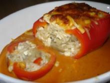 Das Huhn in der Paprika... - Rezept