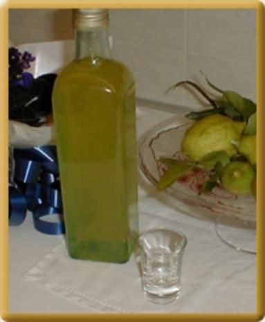 Limoncello mit Pfefferminze - Rezept