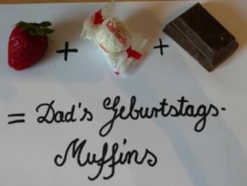 Erdbeer + Kokos + Schokolade = Dad's Geburtstagsmuffins - Rezept