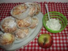 Apfel-Butterkuchen-Muffins - Rezept