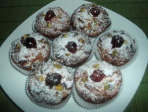 Kirsch-Marzipan-Muffins - Rezept