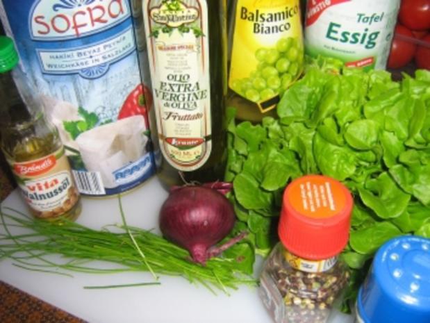 Gegrillter Schafskäse auf Blattsalat - Rezept - Bild Nr. 2