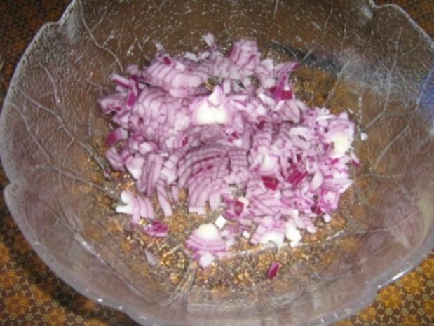 Gegrillter Schafskäse auf Blattsalat - Rezept - Bild Nr. 5
