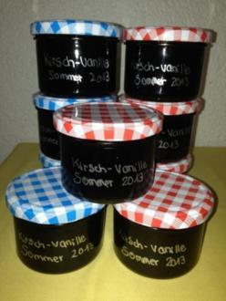 Konfitüre/ Kirsch-Vanille - Rezept