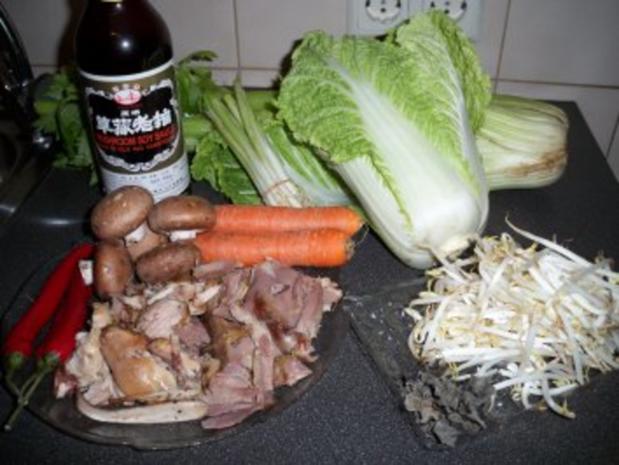 Asiatische Kohlsuppe mit Entenfleisch - Rezept - Bild Nr. 2