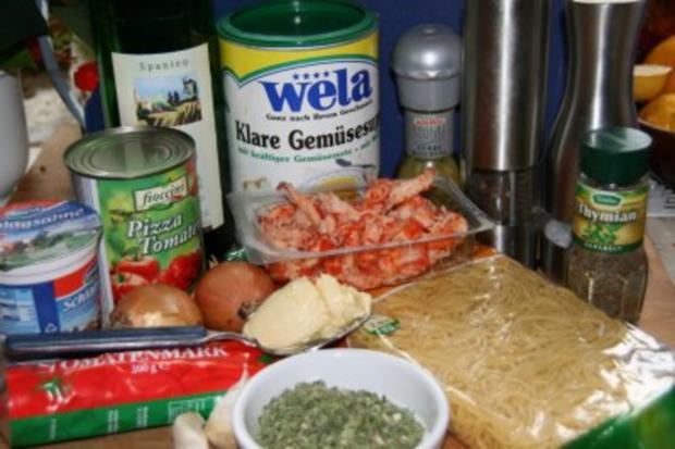 Spaghetti mit Garnelen in Kräuter-Tomaten-Sauce - Rezept - Bild Nr. 2