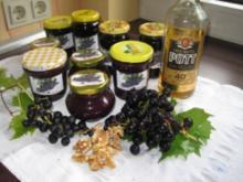 Rum-Trauben-Nuss-Schokoladen-Fruchtaufstrich - Rezept