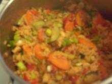 Gemüsereis mit Huhn - Rezept