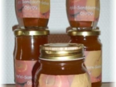 Brotaufstrich - Apfel-Sanddorn-Gelee - Rezept