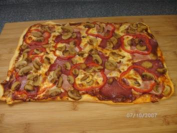 Rezept: Pizza wie wir sie mögen