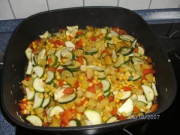 Rezept: Kartoffel-Gemüse-Pfanne....es muss nicht immer mit Fleisch sein