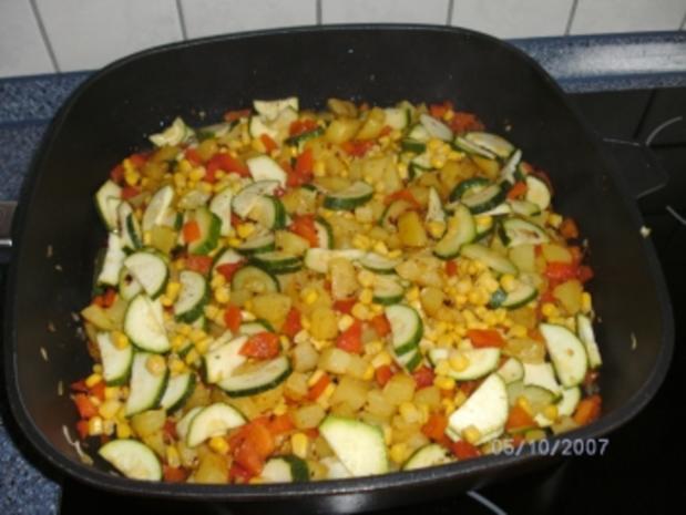 Kartoffel-Gemüse-Pfanne....es muss nicht immer mit Fleisch sein - Rezept