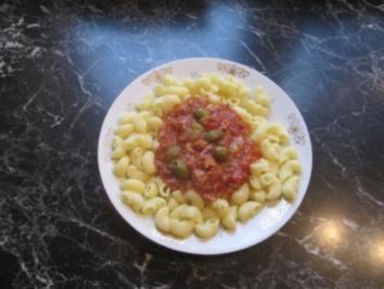 Pasta mit Thunfisch und Oliven - Rezept