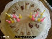 Kuchen  Marzipantorte mit Mandelkern und Choco-Creme - Rezept