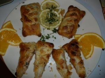 Lachs-Kaviar-Sardinen Päckchen - Rezept