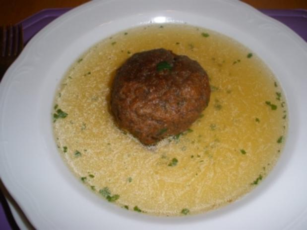 Suppeneinlage - Leberknödel - Rezept