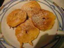 Apfelscheiben im Bierteig - Rezept