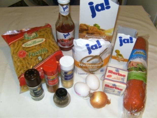 HAUPTGERICHT - Spirelli mit Tomatensoße und Jägerschnitzel - Rezept - Bild Nr. 2