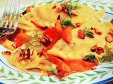 Gefüllte Maultaschen mit Fenchelgemüse - Rezept