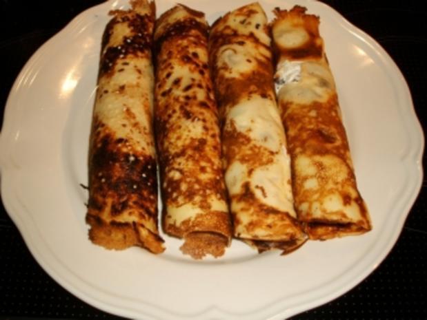 Lachs-Crêpes mit Meerrettich-Frischkäse und Dijon-Senfcreme - Rezept - Bild Nr. 8