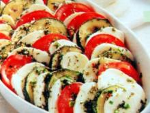 Gemüsesalat mit Mozzarella - Rezept