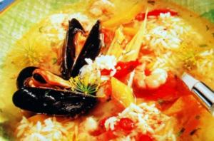 Fischsuppe mit Muscheln - Rezept
