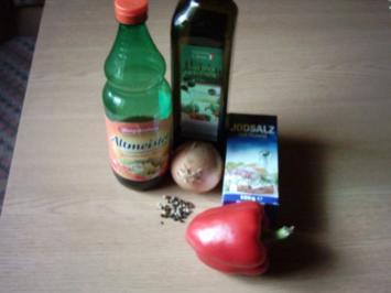 Eingelegte Paprikaschoten - Rezept