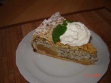 Kuchen + Torten :  Apfel-Mohnkuchen mit Butterstreuseln - Rezept