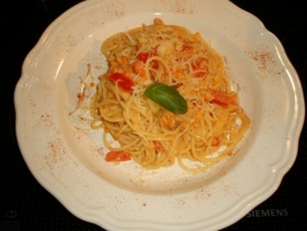 Spaghetti mit roter Linsensauce - Rezept - Bild Nr. 11
